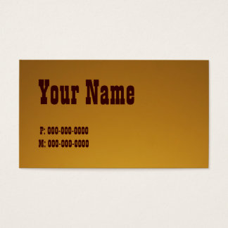 Honey Colored Business Card