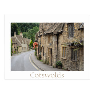 Honey coloured cottages in Castle Combe, UK Postcard