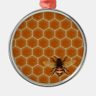 Honey Comb and Bee Christmas Ornament
