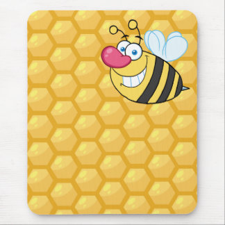 Honey Comb Bee Mouse Pads