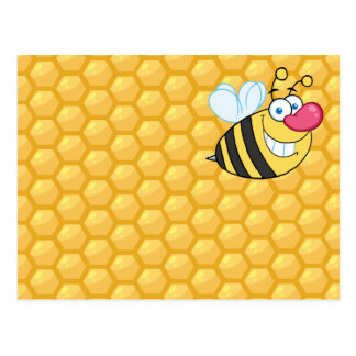Honey Comb Bee Postcard