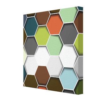 Honey Comb Geometric Pattern Canvas Print