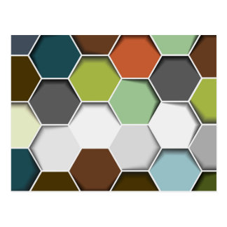 Honey Comb Geometric Pattern Postcard