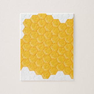 Honey comb jigsaw puzzle