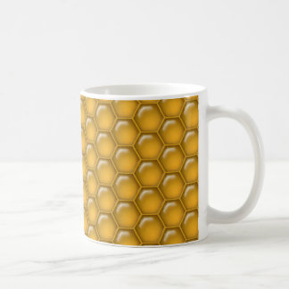 Honey Comb Pattern Coffee Mugs