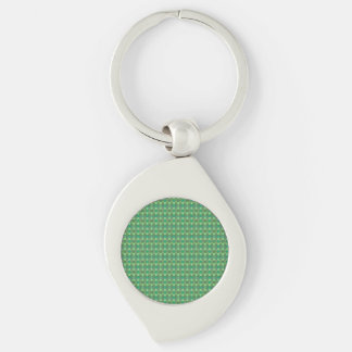 honey comb pattern green keychain