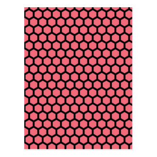 Honey Comb Pattern Postcard