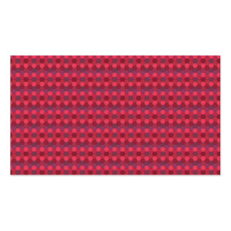 honey comb pattern red Double-Sided standard business cards (Pack of 100)