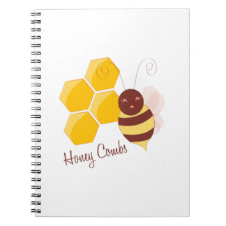 Honey Combs Spiral Note Books