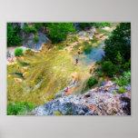 Honey Creek Above Turner Falls III - Color Saturat Poster