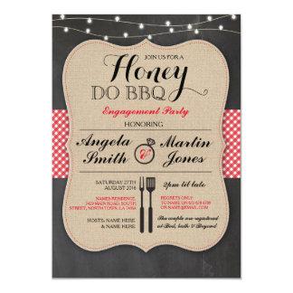 Honey Do BBQ Engagement Party I DO shower Invite