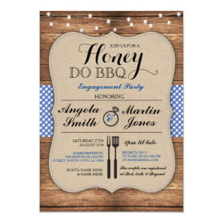 Honey Do BBQ Engagement Party Shower I Invitation