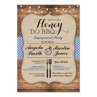 Honey Do BBQ Engagement Party Shower I Invitation