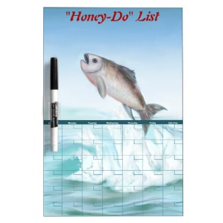 Honey Do List Fish Magnetic Dry Erase Board