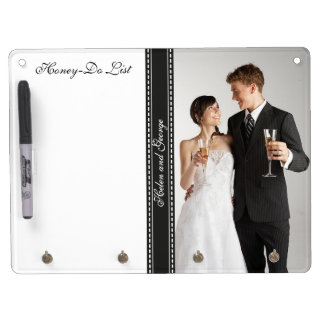 Honey-Do List for Honeymooners Wedding Photo Dry Erase Board With Keychain Holder