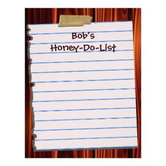 Honey Do List Letterhead Stationery