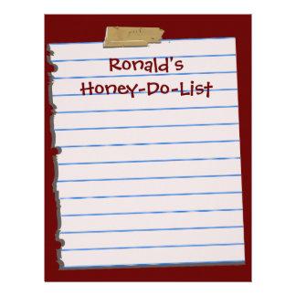 Honey-Do-List Letterhead Stationery