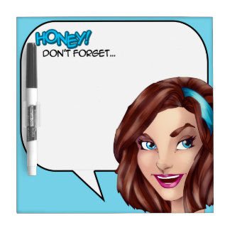 Honey Don't Forget Comics Speech Bubble Dry-Erase Board