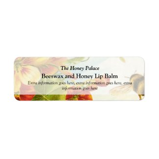 Honey Floral Bee Bath Spa Products Label