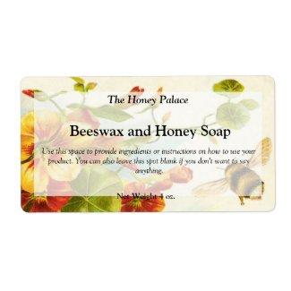 Honey Floral Bee Soap Label label