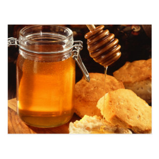 Honey Food Sweets Sticky Postcard