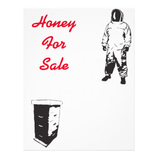 Honey for sale flyer