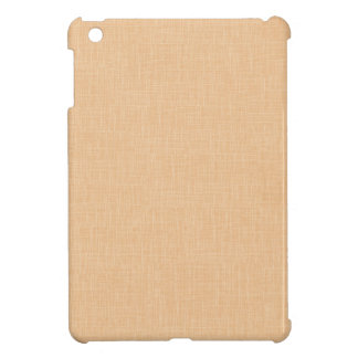 Honey Gold Faux Linen Fabric Textured Background iPad Mini Cases