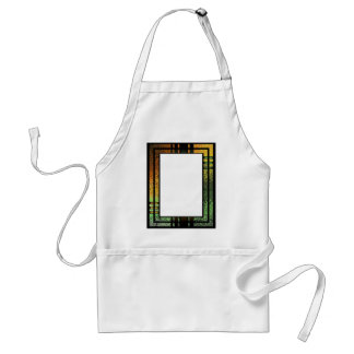 Honey Gold Green Tinted Stained Glass Frame Adult Apron