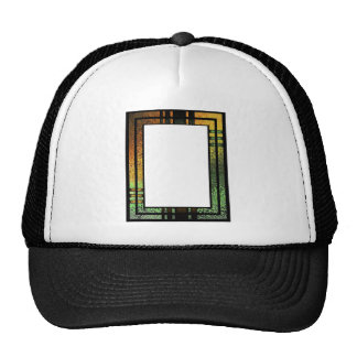 Honey Gold Green Tinted Stained Glass Frame Hat