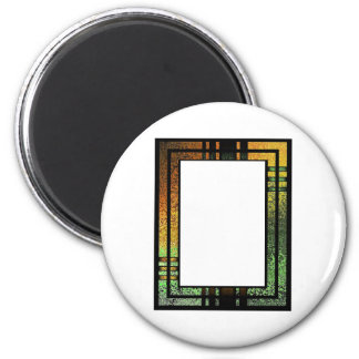 Honey Gold Green Tinted Stained Glass Frame Magnet