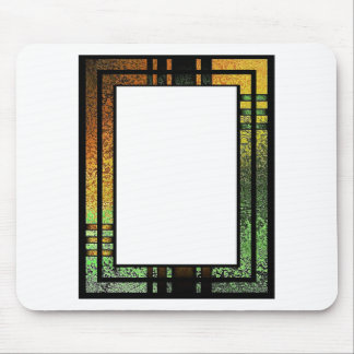 Honey Gold Green Tinted Stained Glass Frame Mouse Pad