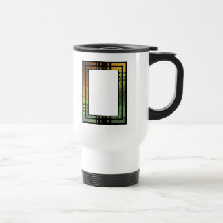 Honey Gold Green Tinted Stained Glass Frame Travel Mug