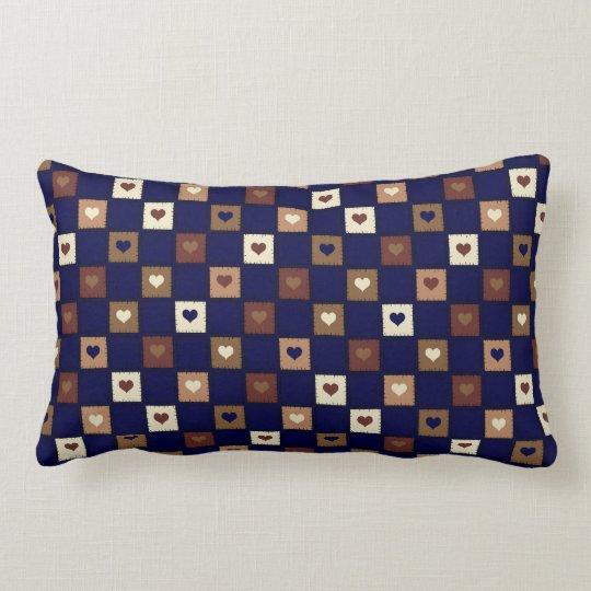 Honey Hearts Patchwork Lumbar Pillow