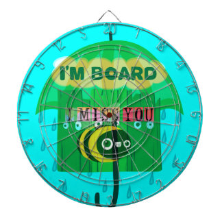 Honey I Miss You So Much Dartboard With Darts