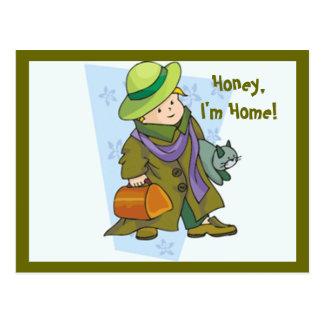 Honey I'm Home! Postcard