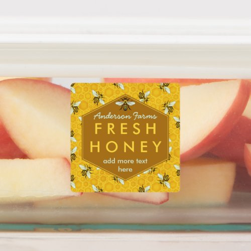 Honey Jar Bees and Honeycomb Apiary Farm Business Labels