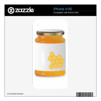 Honey Jar Decals For iPhone 4S