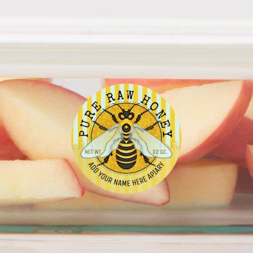 Honey Jar Honeybee Honeycomb Bee Apiary Business Labels