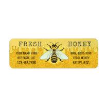 Honey Jar Labels   Honeybee Honeycomb Apiary Bees