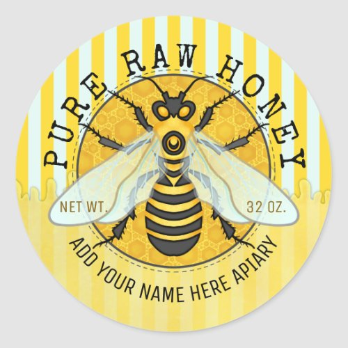 Honey Jar Labels  Honeybee Honeycomb Bee Apiary