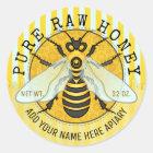Honey Jar Labels | Honeybee Honeycomb Bee Apiary