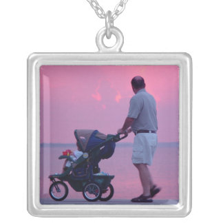 Honey Look at the Sunset Silver Plated Necklace