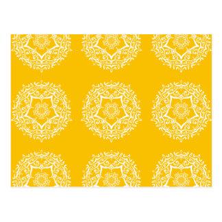 Honey Mandala Postcard