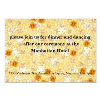 Honey Marigold Wedding Set 3.5x5 Paper Invitation Card