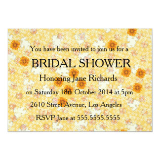Honey Marigold Wedding Set 5x7 Paper Invitation Card
