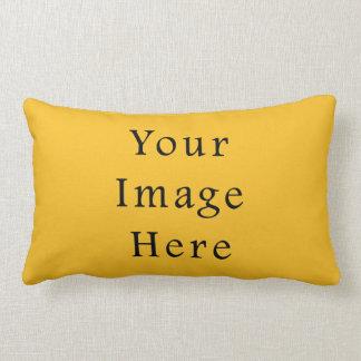 Honey Mustard Yellow Color Trend Blank Template Lumbar Pillow