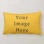 Honey Mustard Yellow Color Trend Blank Template Pillow