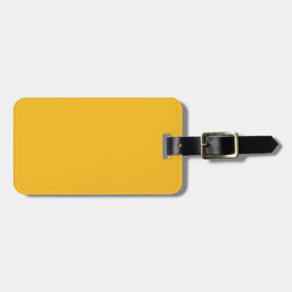 Honey Mustard Yellow Solid Trend Color Background Tag For Luggage
