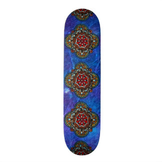 Honey nest - psychedelic bohemian mandala stylish skateboard
