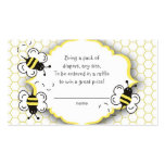Honey or bumble bee raffle ticket or insert card business cards